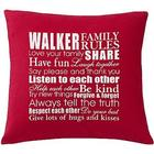 Family Rules Personalized Pillow