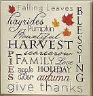 Harvest Words Canvas Art