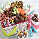 Birthday Candies and Treats in a Basket