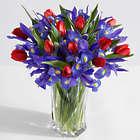 A Dozen Hugs, a Dozen Kisses Bouquet in Brilliant Cut Glass Vase