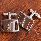 Marlon Brushed Silver Cuff Links