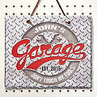 His Garage Rule Personalized Slate Plaque