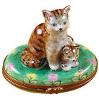Mother Cat with Baby Limoges Box