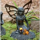 Solar Fairy with Bouquet Garden Statue