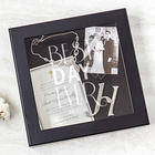 Personalized Best Day Ever Wedding Wishes Shadow Box in Black
