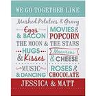 Personalized We Go Together Canvas