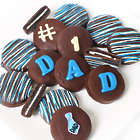 Chocolate Covered #1-Dad Decorated Oreo Cookies