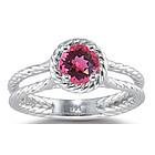 Pink Tourmaline Ring in 14K White Gold