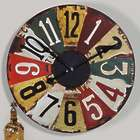 Vintage License Plates Wall Clock