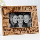 Personalized Cheerleader 4x6 Picture Frame