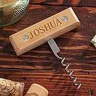 Countryside Personalized Natural Wood Corkscrew