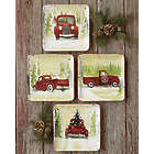 Vintage Truck Christmas Vacation Plates