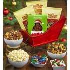 Santa's Sleigh Popcorn Gift Basket