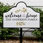 Welcome to Our Home Personalized Magnetic Sign Set