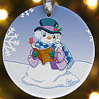 Personalized Precious Moments Snowman Christmas Ornament
