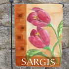 Personalized Red Tulips Garden Flag