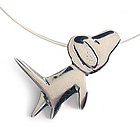 Dog Love Sterling Silver Charm Necklace
