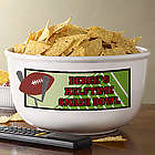Game Time Personalized Football Snack Bowl