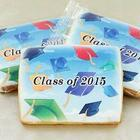 Personalized Cap in the Sky Graduation Cookies