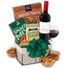 Red Wine Countryside Snacks Gift Basket