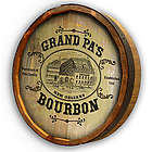 Personalized Grandpa's Bourbon Quarter Barrel Sign