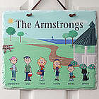 Illustrated Spring Family Character Personalized Wall Plaque