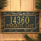 Pine Cone Address Plaque in Antique Copper