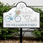 Personalized Life is Beautiful Magnetic Sign
