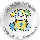 Precious Pup Personalized Boy Birth Plate