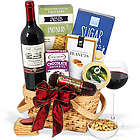 Classic Red Wine and Snacks Gift Basket