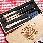 American Grill Master Personalized Barbeque Grill Set