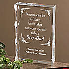 A Special Step-Dad Personalized Clear Plaque