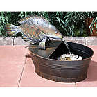 Metal Fish Animated Garden Fountain