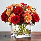 Autumn Medley Bouquet in Cube Vase