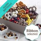 Chocolate Lover's Dream Gift Basket with Birthday Ribbon