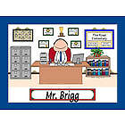 Personalized School Principal Cartoon