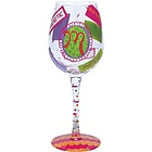 """M"" Wine Glass"