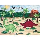 Personalized Dinosaur Wall Art