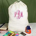 Script Monogrammed Laundry Bag