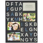 Family Alphabet 4-Opening Wall Plaque in Black