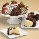 Dipped Cheesecake Trio and 6 Chocolate-Dipped Strawberries