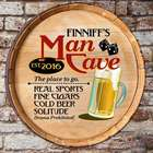 Personalized Man Cave Barrel Top Sign