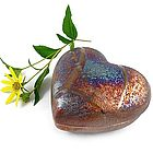 Heart-Shaped Raku Trinket Box