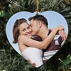 Personalized Ceramic Photo Heart Ornament