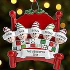 Personalized Snuggle Up Family Ornament