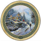 Thomas Kinkade Bringing Home the Tree 2015 Collector Plate
