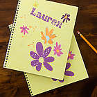 Personalized Girl's Flowers Notebooks