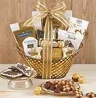 Gilded Splendor Chocolate Gift Basket