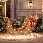 Glittering Sleigh Christmas Yard Decor