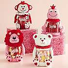Personalized Valentine Plush Character Treat Candy Jars